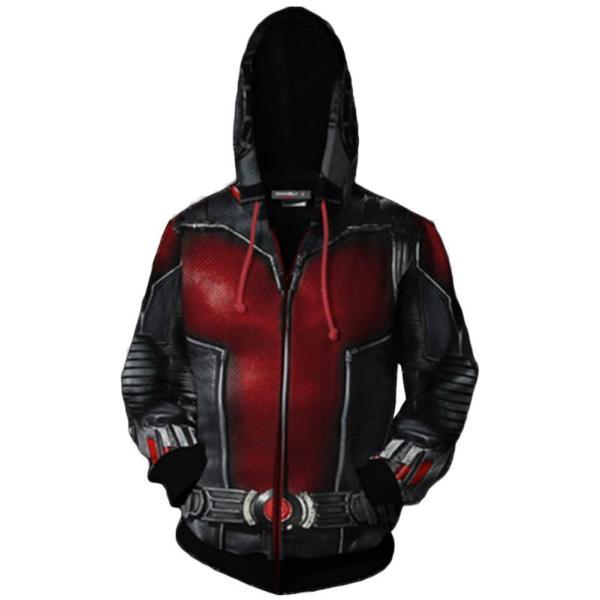 Avenger 4 Ant-Man 3D Hoodie Zip Up Cosplay