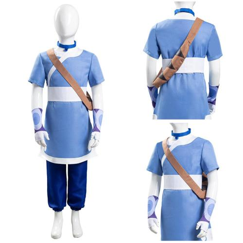 Avatar: the last Airbender Kids Children Halloween Carnival Suit Katara Cosplay Costume