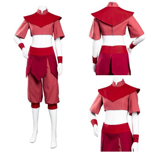 Avatar: The Last Airbender Jumpsuit Outfit Ty Lee Halloween Carnival Suit Cosplay Costume