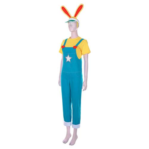 Animal Crossing: New Horizons Halloween Carnival Costume Zipper T. Bunny Men T-shirt Overalls Outfits Cosplay Costume