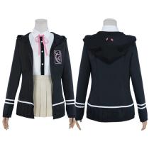 Super Danganronpa 2: Goodbye Desperate Academy Uniform Skirt Outfit Chiaki Nanami Halloween Carnival Suit Cosplay Costume