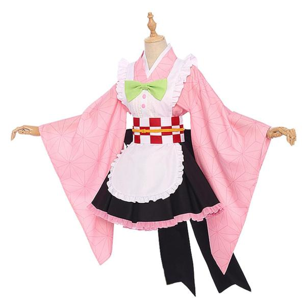 Demon Slayer Maid Outfit Kamado Nezuko Cosplay Costume