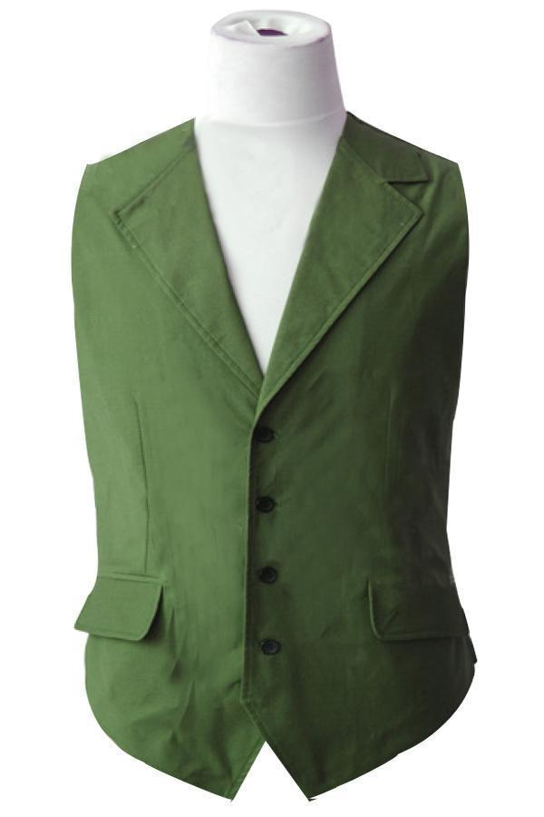 Batman Dark Knight Joker Green Vest Costume Halloween Cosplay