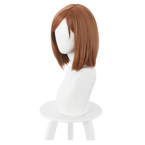 Jujutsu Kaisen Heat Resistant Synthetic Hair Kugisaki Nobara Carnival Halloween Party Props Cosplay Wig