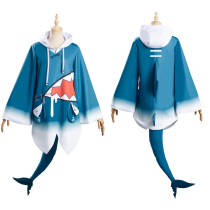 Hololive English VTuber Top Outfit Gawr Gura Halloween Carnival Suit Cosplay Costume