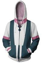 My Hero Academia Hoodie Boku no Hero OCHACO URARAKA Zip Up Sweatshirt Unisex