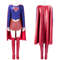 Supergirl Superwoman Kara Danvers Outfit Cosplay Costume Adult