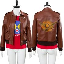 Captain Marvel Carol Danvers U.S.Air Force T Shirt Bomber Jacket Casual Suit
