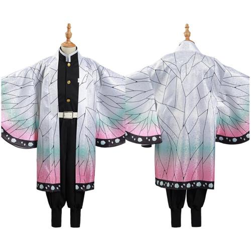 Demon Slayer: Kimetsu no Yaiba Kids Cloak Coat Kochou Shinobu Halloween Carnival Suit Cosplay Costume