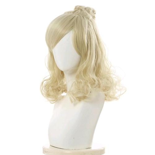 Game Animal Crossing Carnival Halloween Party Props Isabelle Cosplay Wig Heat Resistant Synthetic Hair