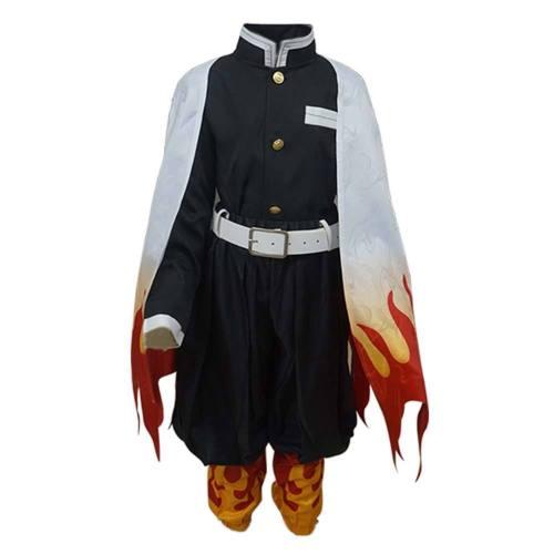 Demon Slayer Halloween Carnival Suit Rengoku Kyoujurou Kids Children Outfits Cosplay Costume