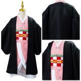 Anime Demon Slayer Kimetsu no Yaiba Uniform Outfit Kamado Nezuko Cosplay Costume for Kids Children