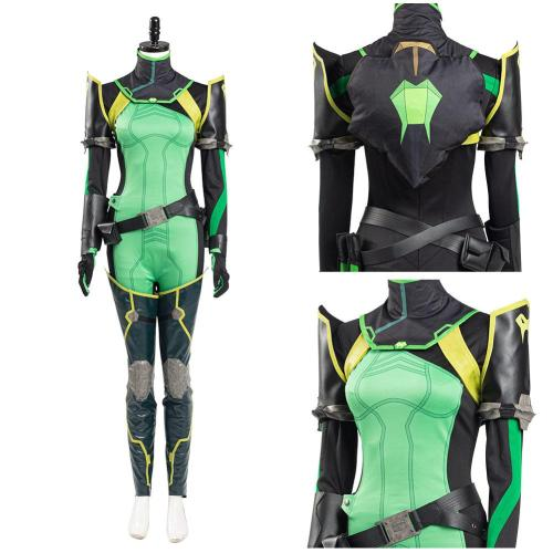 Valorant Women Jumpsuit Romper Suit Viper Halloween Carnival Outfit Cosplay Costume