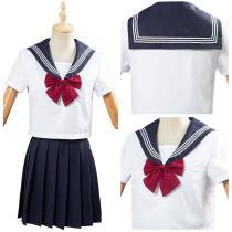 JK High School Uniform Class Uniform Students Clothing Summer Navy Sailor Suit Cosplay Top Skirt Outfit