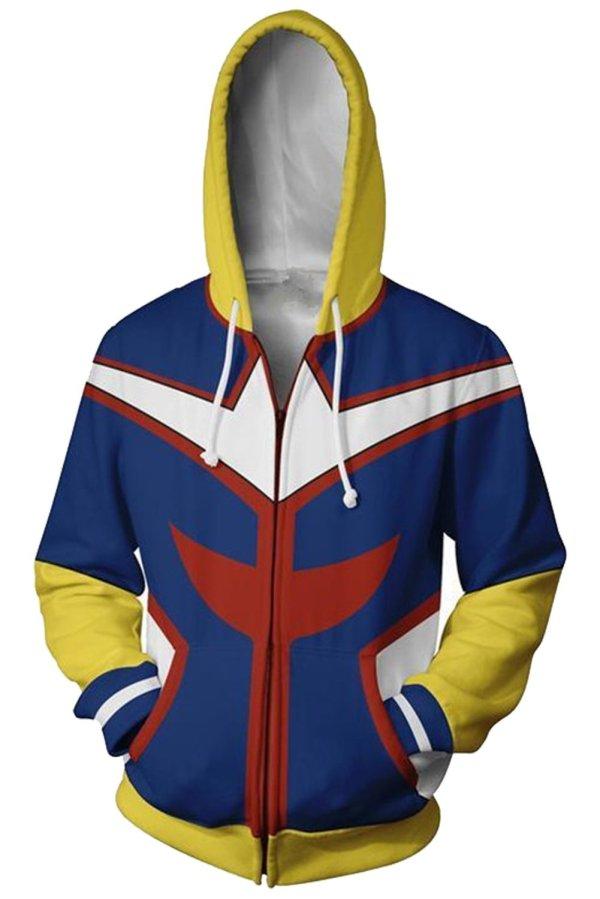 My Hero Academia Hoodie Boku no Hero Academia All Might Sweatshirt Jacket Cosplay Costume