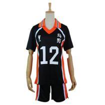 Haikyuu Cosplay Costume Karasuno High School Volleyball Club Yamaguchi Tadashi Sportswear Jerseys Uniform