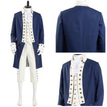 Musical Hamilton Men Uniform Outfits Alexander Hamilton  Halloween Carnival Suit Cosplay Costume