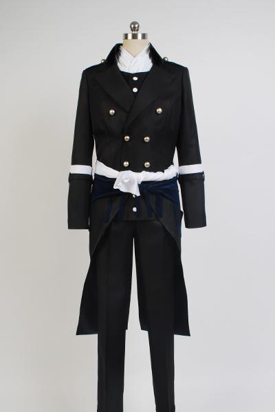 Haku?ki Hajime Saito Swordman Uniform Cosplay Costume