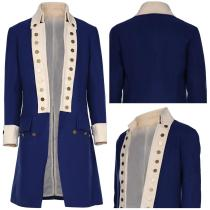 Hamilton Replica Colonial Victorian Edwardian Halloween Carnival Suit Only Coat Cosplay Costume