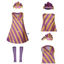 Trolls 2:World Tour Adult Women Dress Outfit Poppy Cosplay Costume Halloween Carnival Costume