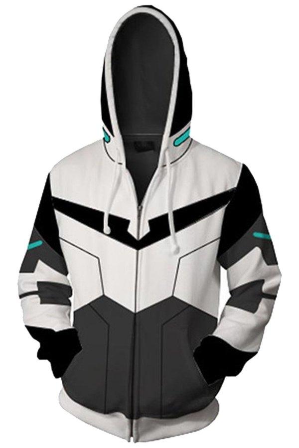 Voltron: Defender of the Universe Hoodie Shiro Zip Up Sweatshirt Unisex