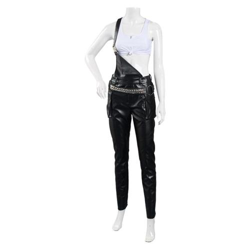 Game Cyberpunk 2077 Crop Top Overalls Outfit Judy Halloween Carnival Suit Cosplay Costume