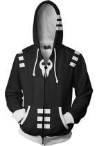 Soul Eater Merchandies Hoodie 3D Zip Up Sweatshirt Unisex