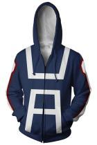 My Hero Academia Boku no Hero School Training Uniform Zip Up Hoodie Unisex