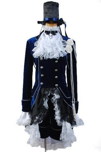 Black Butler Ciel Cosplay Costume Dark Blue Dress