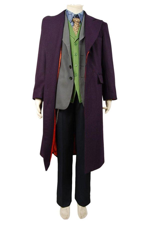 Dark Knight Joker 5 pcs Costume Set *  Wool trench Coat Version