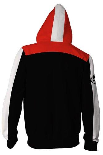Teen Hoodie Avengers 4 Endgame Quantum Realm Suit Zip Up Jacket Sweatshirt For Adults Unisex
