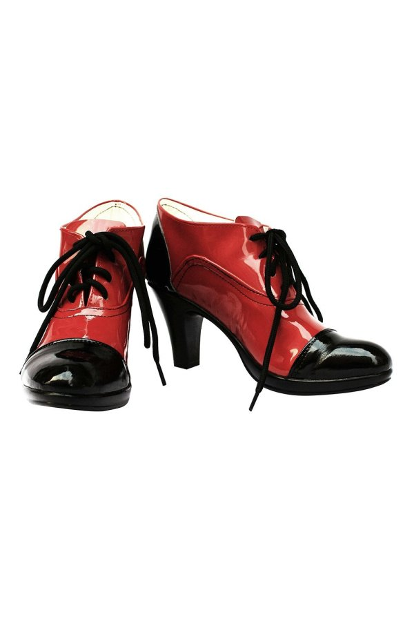 Black Butler Grell Cosplay Shoes Boots Black and Red