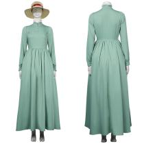 Movie Howl's Moving Castle Women Dress Outfit Sophie Hatter Halloween Carnival Suit Cosplay Costume