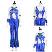 JoJo's Bizarre Adventure : Stone Ocean Pants Vest Outfit Jolyne Cujoh Halloween Carnival Suit Cosplay Costume
