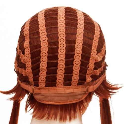 Overwatch Brigitte Lindholm Cosplay Wig reddish brown