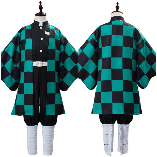 Anime Demon Slayer Kimetsu no Yaiba Uniform Outfit Kamado Tanjirou Cosplay Costume for Kids Children