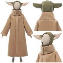 The Mandalorian Season 2 Coat Headgear Outfit Baby Yoda Grogu Halloween Carnival Suit Cosplay Costume