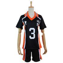 Haikyuu Cosplay Costume Azumane Asahi Sportswear Shirt Jerseys