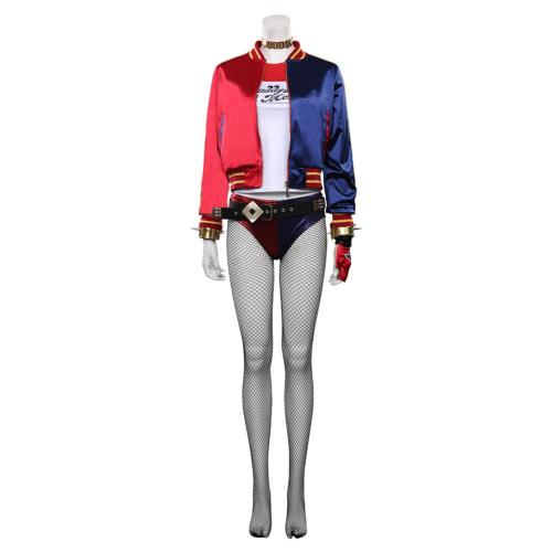 Suicide Squad T-shirt Pants Outfit Harleen Quinzel/Harley Quinn Halloween Carnival Suit Cosplay Costume