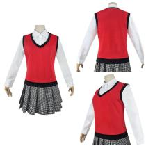 Kakegurui Women School Uniform Outfit Midari Ikishima Halloween Carnival Suit Cosplay Costume