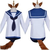 Strike Witches Sailor Suit Dress Swimwear Outfit Miyafuji Yoshika Halloween Carnival Suit Cosplay Costume