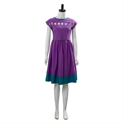 Stranger Things Season 3 Nancy Wheeler Purple Dress Cosplay Costume