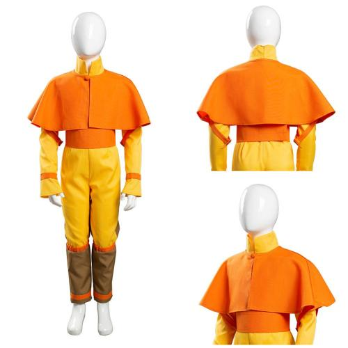 Avatar: The Last Airbender Kids Children Jumpsuit Outfits Avatar Aang Halloween Carnival Suit Cosplay Costume
