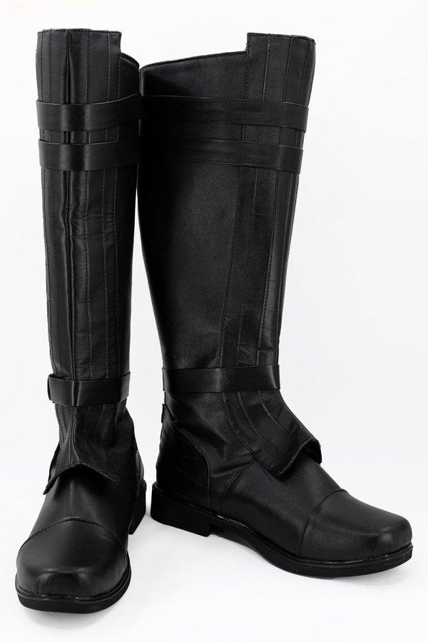 Star Wars Anakin Skywalker Black Boots Cosplay Shoes