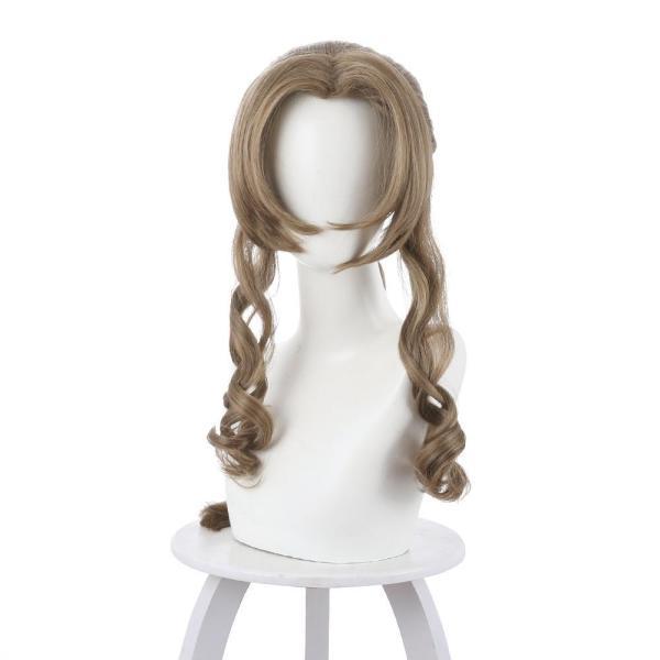 Final Fantasy VII Remake Aerith Aeris Gainsborough Dark Brown Long Wig Cosplay Wig