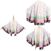 Demon Slayer: Kimetsu no Yaiba Kimono Coat Kochou Shinobu Cosplay Costume for Kids Children