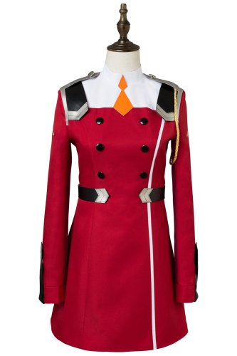 DARLING in the FRANXX Zero Two Code:002 Uniform Dress Cosplay Costume Red