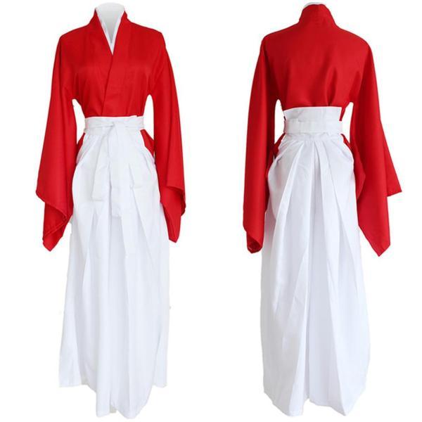 Rurouni Kenshin Kenshin Himura Red Kendo Kimono Cosplay Costume