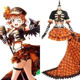 Love Live! Sunshine!! Chika Takami aqours Punk Rock  Dress Outfit Cosplay Costume