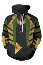 Avengers Age Of Ultron Loki Hoodie 3D Pullover Sweatshirt Unisex